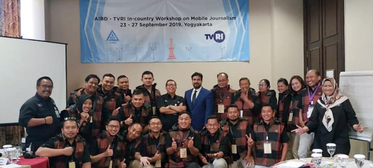 AIBD/TVRI in-country mobile journalism workshop