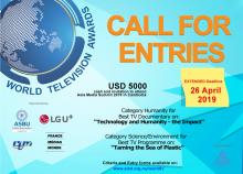 Extended deadline for World TV Awards 2019